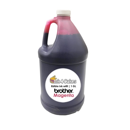 Magenta edible ink refill for BROTHER printers | 1 GL