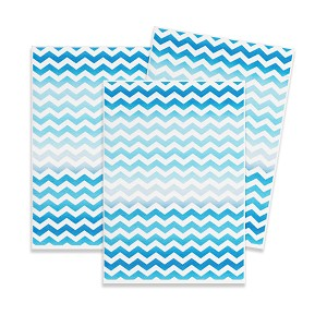 Printed Wafer Paper - Blue chevron