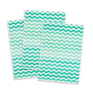 Printed Wafer Paper - Green Chevron