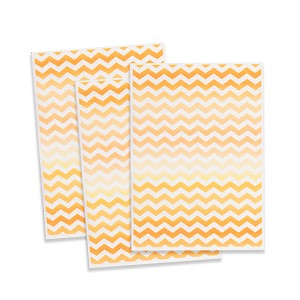 Printed Wafer Paper - Orange Chevron