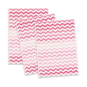 Printed Edible Wafer Paper - Pink Chevron