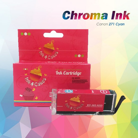 CHROMA Canon Cyan Edible Ink Cartridge 271XL