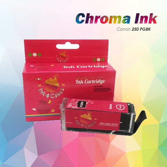 CHROMA Canon Black Edible Ink Cartridge 250XL