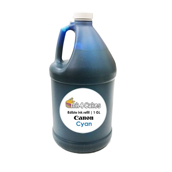 Cyan CHROMA edible ink refill for CANON printers | 1 GL
