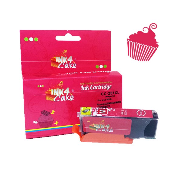 Tinta Comestible para Canon - Color Magenta 251XL