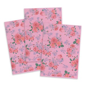 Pink Printed Wafer Paper - Flower Pattern
