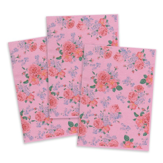 Pink Printed Edible Wafer Paper - Flower Pattern