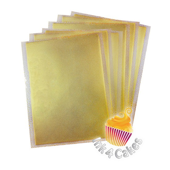 Gold- Flex Frost Metallic Icing Sheets 12 pack