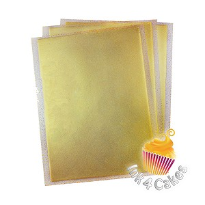 Gold- Sparkling Icing Sheets 3 pack