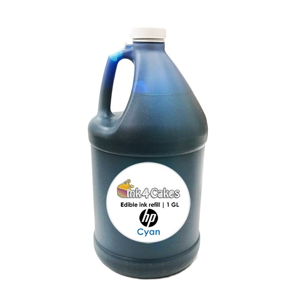 Cyan edible ink refill for HP printers | 1 GL