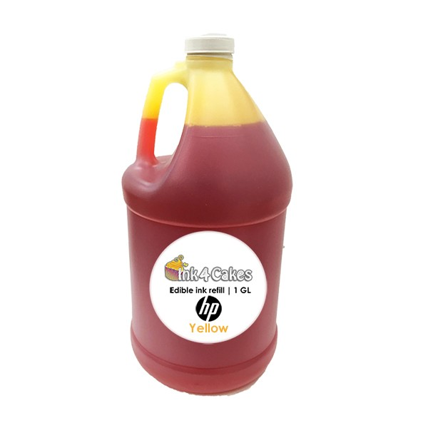 Yellow edible ink refill for HP printers | 1 GL