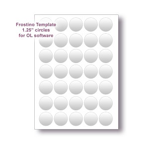 "Frostino Templates for Office Labeler Software - 1.25"" circles"