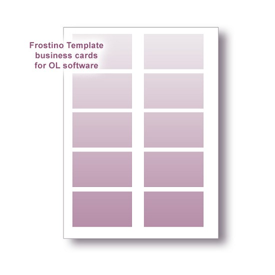 Frostino Templates for Office Labeler Software - business cards