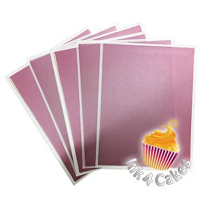 Rose- Flex Frost Metallic Icing Sheets 12 pack