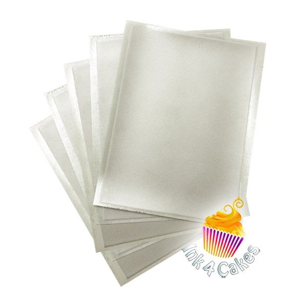 Silver- Flex Frost Sparkling Icing Sheets 12 pack