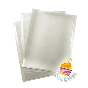 Silver- Flex Frost Sparkling Icing Sheets 3 pack