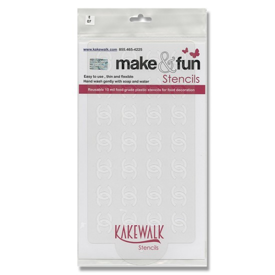 Chanel Seamless- Bakery decorating stencil - Rectangle 11
