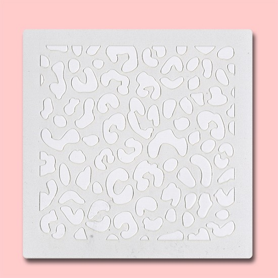 Animal Print - Bakery Decorating Stencil - Square 5.5
