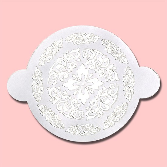Mandala Like Design Round Cake - Bakery Decorating Stencil - Circle 11