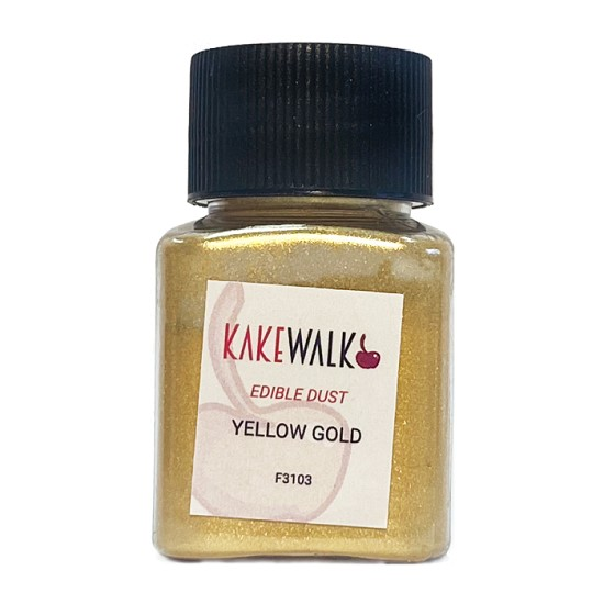Bright Yellow Gold-  Supreme Sparkling  Icing Sheet  -6pk